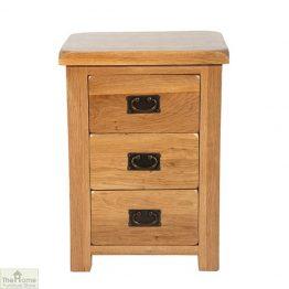 Farmhouse 3 Drawer Bedside Cabinet