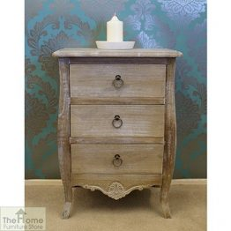 Casamoré Bordeaux 3 Drawer Bedside Chest_1