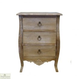 Casamoré Bordeaux 3 Drawer Bedside Chest