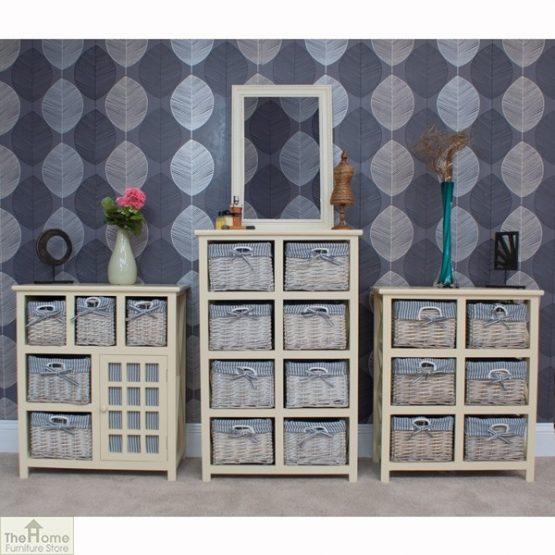 Selsey Wicker 5 Drawer 1 Door Storage Unit_8