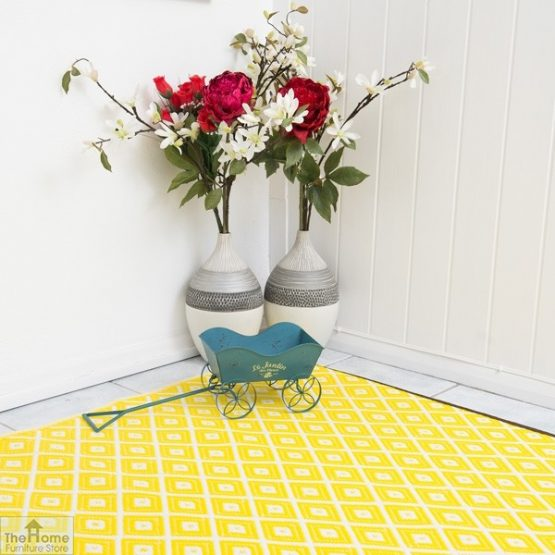 Eco-Friendly Reversible Yellow Rug_5