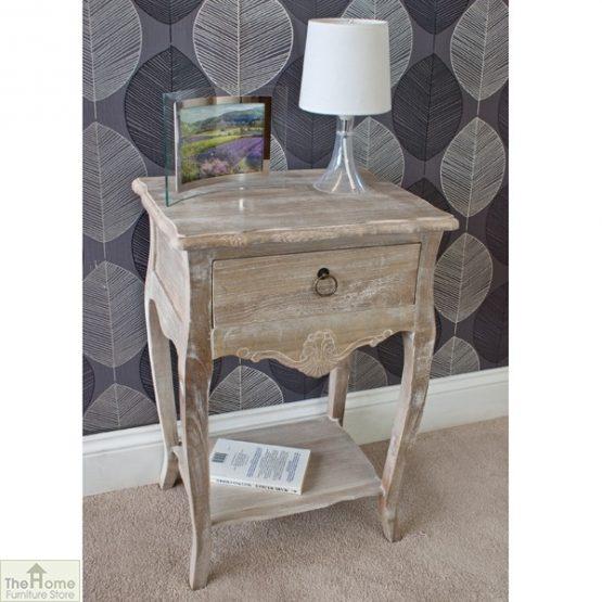 Casamoré Bordeaux 1 drawer lamp table_2