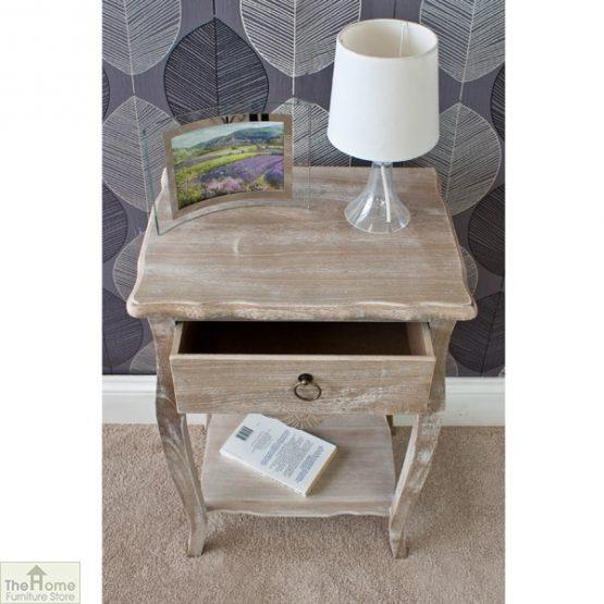Casamoré Bordeaux 1 drawer lamp table_3