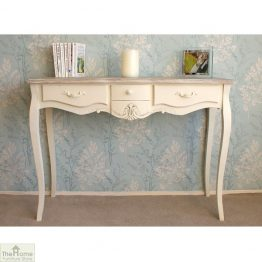 Devon Shabby Chic 3 Drawer Console Table_1