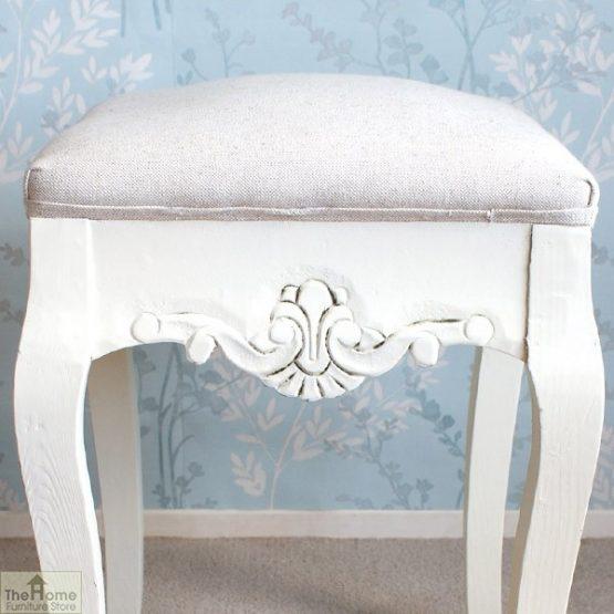 Devon Dressing Table Stool White Finish_3