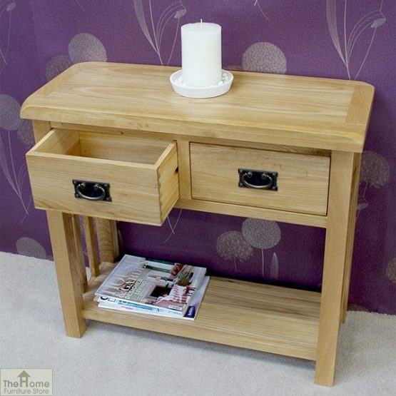 Farmhouse 2 Drawer Console Table_3