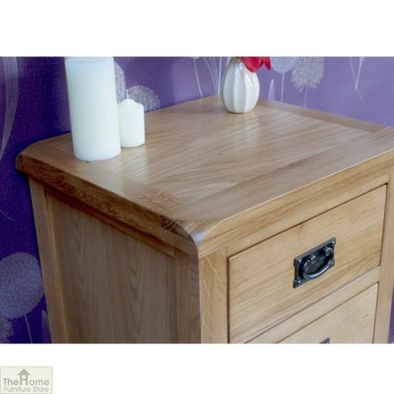 Farmhouse Oak 5 Drawer Tallboy_4