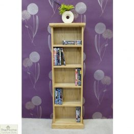 Farmhouse Oak CD DVD Rack_1