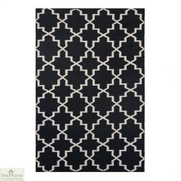 Black White Reversible Patterned Rug_1