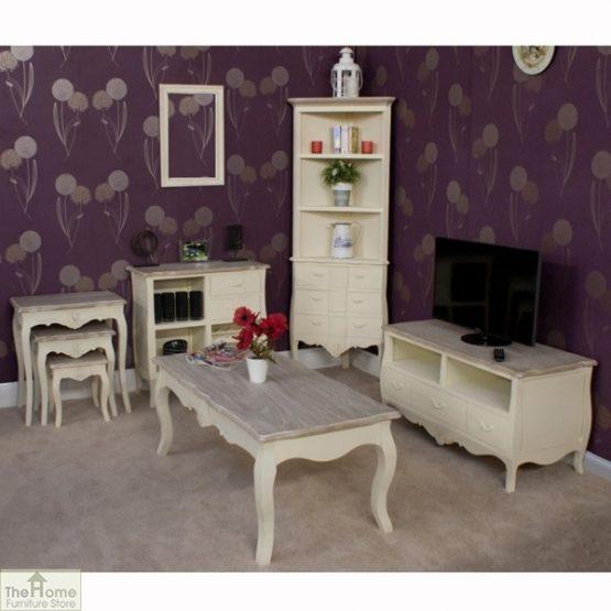 Devon Shabby Chic Nest 3 Tables_5
