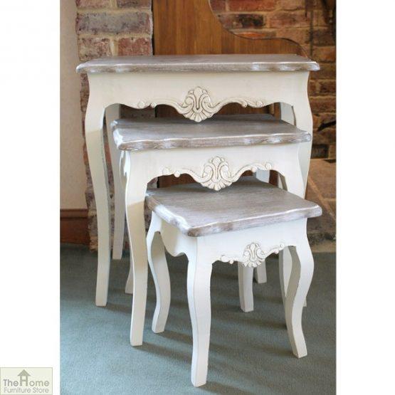Devon Shabby Chic Nest 3 Tables_1