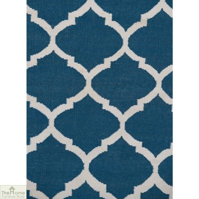 Royal Blue White Reversible Rug_2