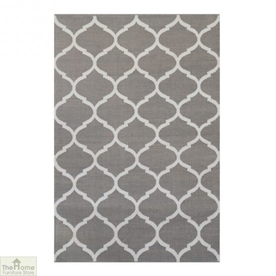 Handwoven Grey Reversible Patterned Rug_1