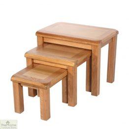 Farmhouse Oak Nest 3 Tables
