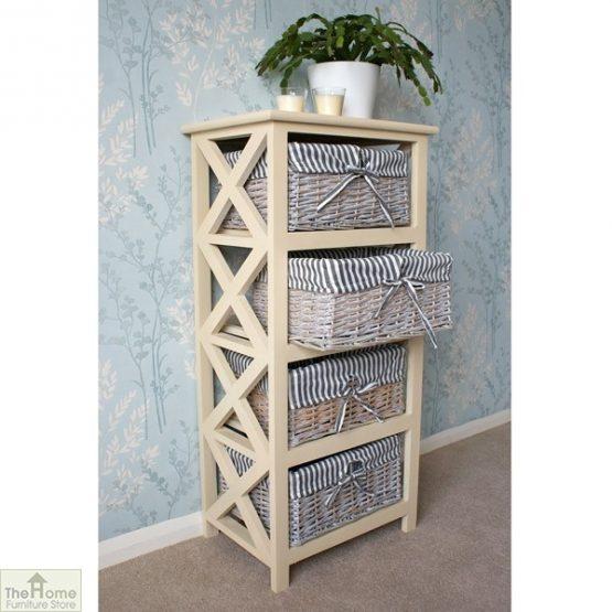 Selsey 4 Drawer Wicker Storage Unit_1