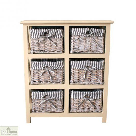 Selsey 6 Drawer Wicker Storage Unit