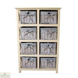 Selsey 8 Drawer Wicker Storage Unit