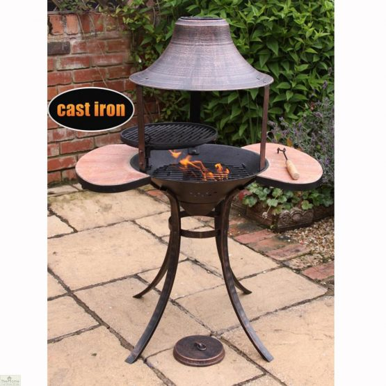 Medium Bronze Fire Bowl BBQ_1