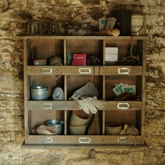 Wooden Storage Shelving Wall Unit_2