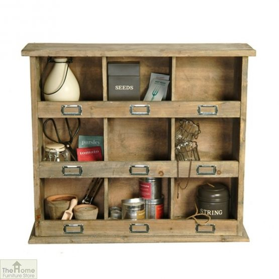 Wooden Storage Shelving Wall Unit