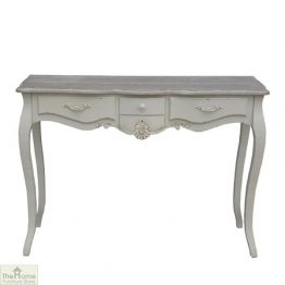 Devon Shabby Chic 3 Drawer Console Table