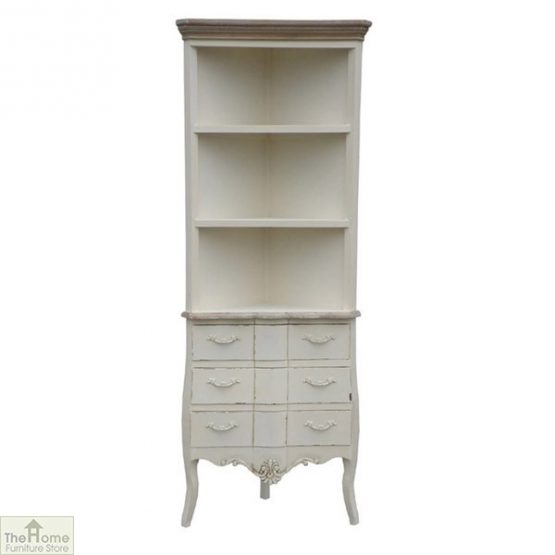 Devon 3 Drawer Corner Shelf Unit