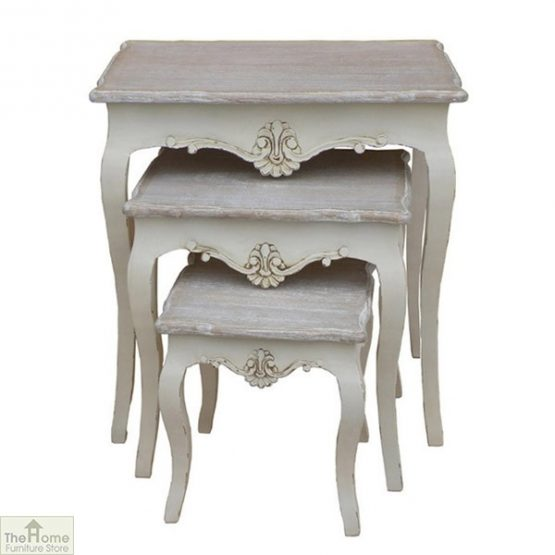 Devon Shabby Chic Nest 3 Tables