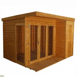 Contemporary Garden Room Side Shed