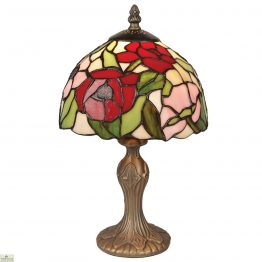 Tiffany Style Poppy Table Lamp
