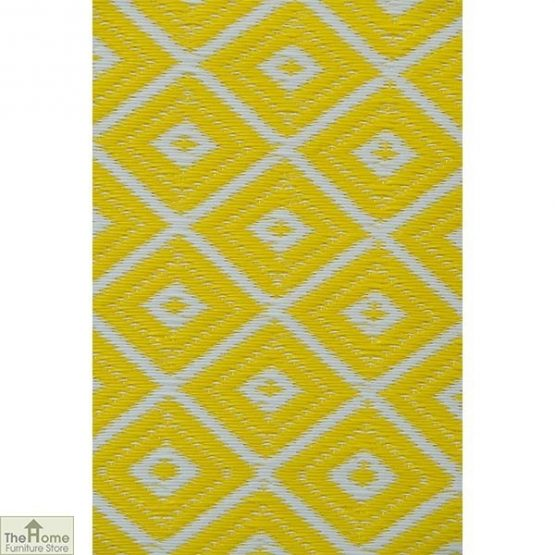 Eco-Friendly Reversible Yellow Rug