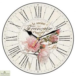 French Style Rose Wall Clock