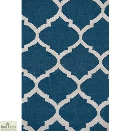 Royal Blue White Reversible Rug