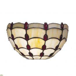 Tiffany Style Ruby Jewel Wall Light