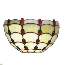 Tiffany Style Amber Jewel Wall Light