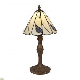 Beige Blue Leaf Table Lamp