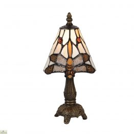 Brown Tiffany Dragonfly Table Lamp