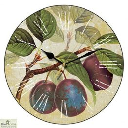 Purple Plums Wall Clock