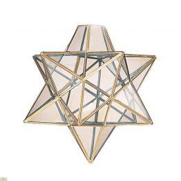 Star Pendant Light Shade Brass