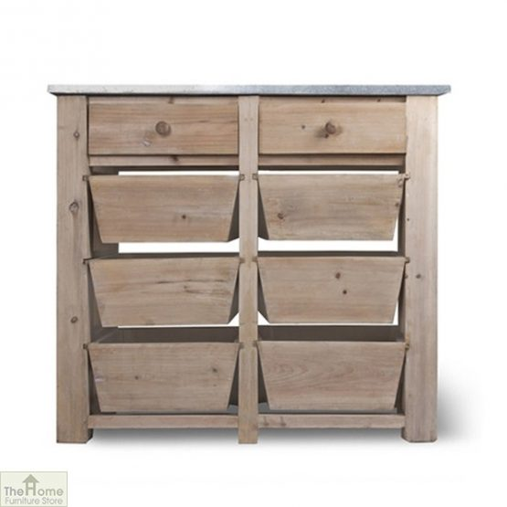 Spruce Wood 8 Drawer Storage Unit