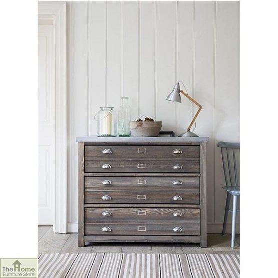 Zinc Top 3 Drawer Cabinet_1