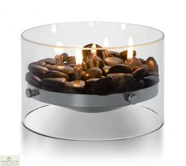 Round Glass Oil Lamp