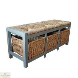 Gloucester 3 Basket Storage Bench