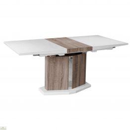 White High Gloss Extending Wooden Dining Table