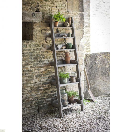 Rustic Wooden Shelf Ladder_1