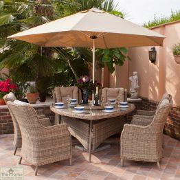 Casamoré Corfu 6 Seater Triangular Dining Set-2