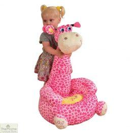 Plush Pink Giraffe Sitting Chair_1