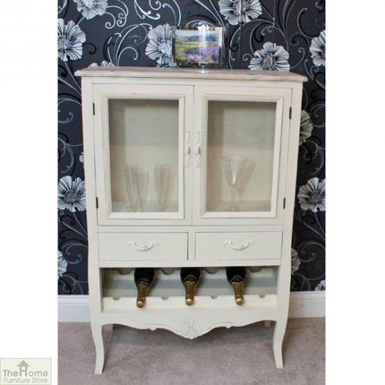 Devon Shabby Chic Wine Rack 2 Door 2 Drawer_1
