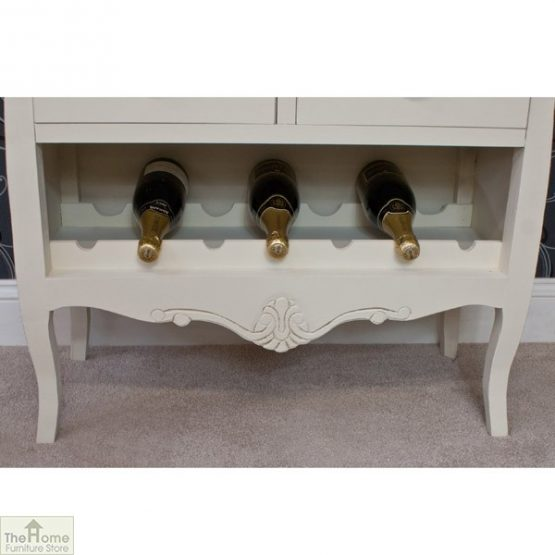 Devon Shabby Chic Wine Rack 2 Door 2 Drawer_5