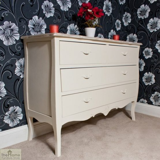 Devon Shabby Chic Chest of Drawers 2 Over 2 _2