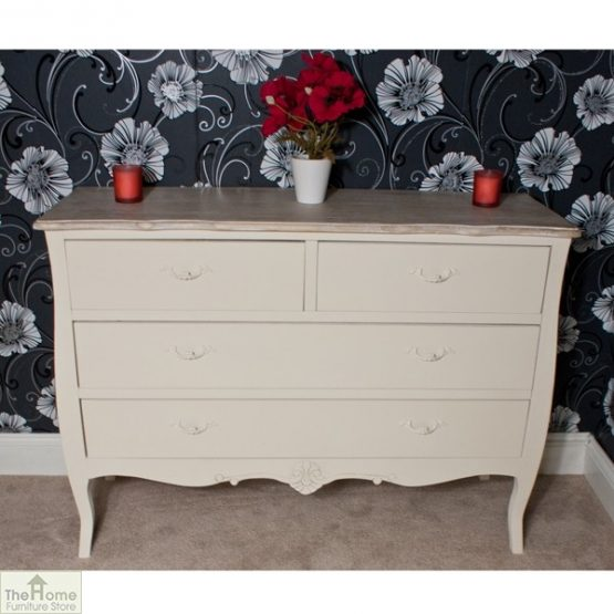 Devon Shabby Chic Chest of Drawers 2 Over 2 _4